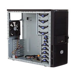 Elite 335 Black Mid Tower Case, ATX, No PSU, Steel