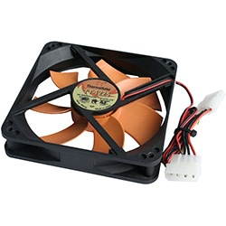 TT-1225 120mm Black Case Fan, 4-Pin Power Connector
