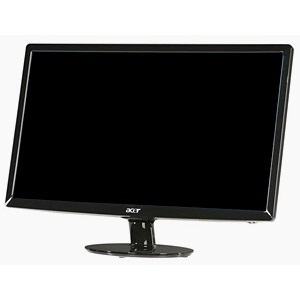 "S201HLbd Black LCD Monitor, 20"" TFT HD, 1600x900, 0.276mm, 250cd/m², 5ms, VGA/DVI, VESA"