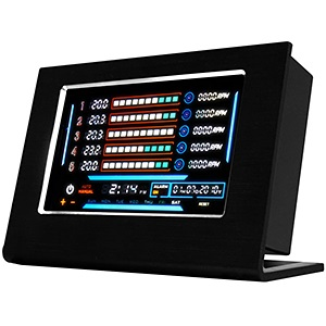 "Sentry LXE Black External Fan Controller Panel, 5-Channels, 5.27"" Touch Screen LCD, w/ Internal PCI Card"