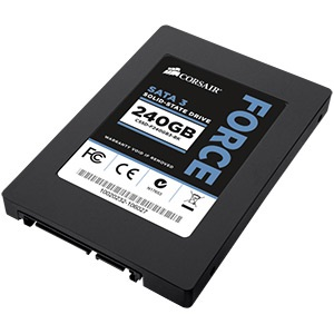 240GB Force Series™ 3 SSD, MLC SandForce SF-2281, 550/520 MB/s, 2.5-Inch w/ 3.5-Inch Bracket, SATA 6 Gb/s, Retail