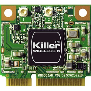 Killer Wireless-N 1102 Wireless Card, IEEE 802.11a/b/g/n, Internal PCIe Half Mini Card