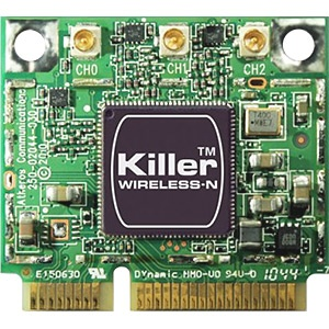 Killer™ Wireless-N 1103 Wireless Card, IEEE 802.11a/b/g/n, Internal PCIe Half Mini Card
