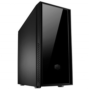 Silencio 550 Black Mid-Tower Case, ATX, No PSU, Steel/Plastic