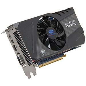 Radeon™ HD 7770 GHz OC 1150MHz, 1GB GDDR5 5000MHz, PCIe x16 CrossFire, DVI + HDMI + 2x mini-DP, Retail