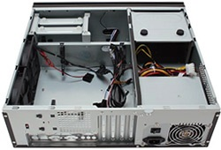 Veris Fusion Black 430 Black Entertainment PC Enclosure, LCD screen, IR Receiver, mATX, 430W PSU