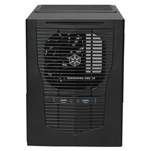 Sugo SG09B Black Mini Tower Case, Slim Slot Loading OD, 4 Slots, mATX, No PSU