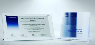 AVADirect Earns 2015 Boeing Performance Excellence Award