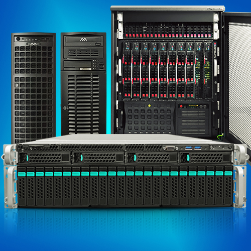 custom servers, rack and tower form factors