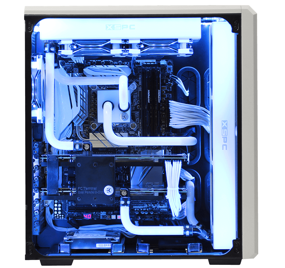 Custom liquid cooled gaming pc