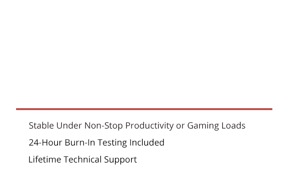 High Performance Desktop Computer