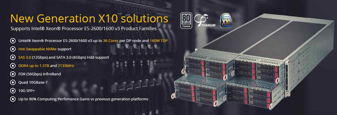 SuperMicro Intel X10 Server Solutions