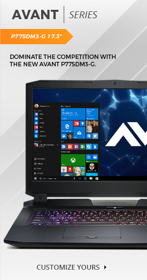 The Avant P775DM3-G Custom Gaming Laptop