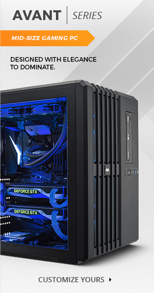 The Avant Mid Size Gaming PC - dominate with elegance