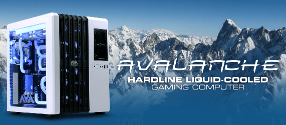 AVADirect hardline liquid cooling custom gaming PC