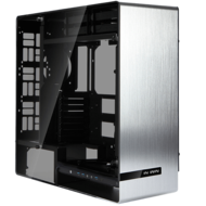 909 Silver w/ Tempered Glass Side Panels, E-ATX, No PSU, Aluminum Full Tower Case