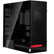 909 Black w/ Tempered Glass Side Panels, E-ATX, No PSU, Aluminum Full Tower Case