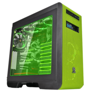 Core V51 Riing Edition Black/Green ATX Gaming Mid Tower Computer Case