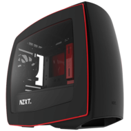 Manta Series CA-MANTW-M2 w/ Window, No PSU, Mini-ITX, Matte Black/Red, Mini Tower Case
