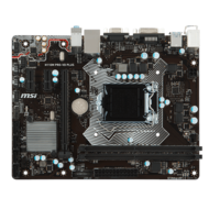 H110M PRO-VD PLUS, Intel H110 Chipset, LGA 1151, DDR4 32GB, DVI-D, USB 3.1, microATX Retail Motherboard