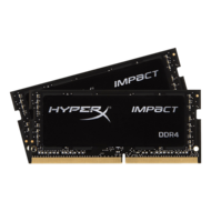 32GB Kit (2 x 16GB) HyperX Impact DDR4 2666MHz, PC4-21300, CL15 (15-17-17) 1.2V, Non-ECC, Black, SO-DIMM Memory