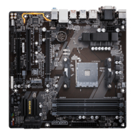 GA-AB350M-D3H, AMD B350 Chipset, AM4, DDR4 64GB, HDMI, M.2, USB 3.1, microATX Retail Motherboard