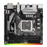 ROG Series STRIX H270I GAMING, Intel H270 Chipset, LGA 1151, DDR4 32GB, HDMI, M.2, USB 3.1, Mini-ITX Retail Motherboard