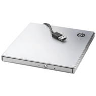 Slim DVD Burner, External, Portable, Silver, 8x / 24x DVD / CD, USB 2.0, Retail