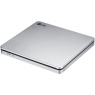 Slim DVD Burner, External, Portable, White, 8x / 24x DVD / CD, 0.75 Cache, USB 2.0, Retail