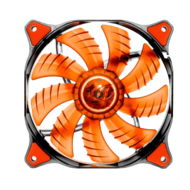 CFD Hydraulic-Bearing 120mm Case Fan w/ Red LEDs, 1200 RPM, 64.37 CFM, 16.6 dBA