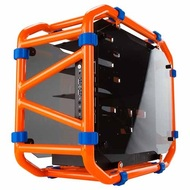 "D-Frame Mini Orange Mini-Tower Case, 3 x 3.5""/2.5"" + 2 x 2.5"", Mini-ITX, 2 slots, No PSU, Aluminum"