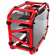 "D-Frame Mini Red Mini-Tower Case, 3 x 3.5""/2.5"" + 2 x 2.5"", Mini-ITX, 2 slots, No PSU, Aluminum"