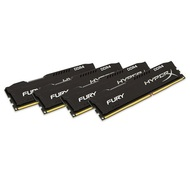 32GB (4 x 8GB) HyperX Fury Black PC4-19200 DDR4 2400MHz CL15 1.2V SDRAM DIMM, Non-ECC