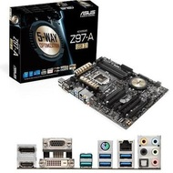 Z97-A/USB 3.1 - Asus Desktop Motherboard Intel Z97 Express Chipset Socket H3 LGA 1150 ATX 1 x Processor Support 32 GB DDR3 SDRAM Maximum RAM CrossFireX, SLI Support Serial ATA/600 RAID Supported Controller CPU Dependent Video 3 x PCIe x16