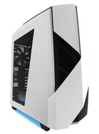 Noctis 450 Next Generation 5.25-less Design. PWM Fan Hub, Include 4 x 2nd Gen FNv2 Fans, High-End WC support, Glossy White/Blue LED Mid Tower Case.