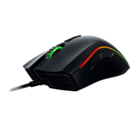 Black Mamba Mouse Laser, Cable USB, 16000 dpi, Tilt Wheel 9 Button(s) Right handed Only