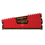32GB (2 x 16GB) Vengeance LPX PC4-21300 DDR4 2666MHz CL16 (16-18-18-35) 1.2V SDRAM DIMM, Non-ECC Red Memory