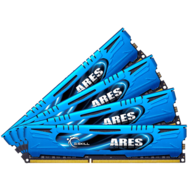 16GB (4 x 4GB) Ares PC3-14900 DDR3 1866MHz CL9 (9-10-9-28) 1.50V SDRAM DIMM, Non-ECC, Unbuffered Memory