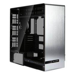 909 Silver, Tempered Glass, No PSU, E-ATX, Full Tower Case