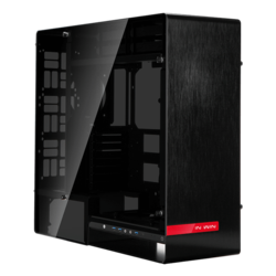 909 Black, Tempered Glass, No PSU, E-ATX, Full Tower Case