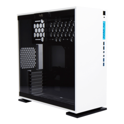 303 White, Tempered Glass, No PSU, ATX, Mid Tower Case