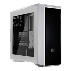 MasterBox 5 w/ Window, No PSU, ATX, White/Black, Mid Tower Case