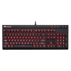 STRAFE, Red LED Illumination, Cherry MX Silent Switch, Macro Keys, Wired USB, Black, Retail Mechanical Gaming Keyboard