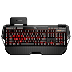 KM780 Series RIPJAWS KM780 MX, Red LED Illumination, Cherry MX Blue Switch, 6 Macro Keys, 12 Function Keys, Wired USB, Black, Retail Mechanical Gaming Keyboard