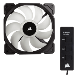 SP120 120mm High Performance w/ Controller, w/ RGB LEDs, 1400 RPM, 52 CFM, 26 dBA Cooling Fan