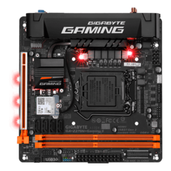 GA-Z270N-GAMING 5, Intel Z270 Chipset, LGA 1151, DDR4 32GB, HDMI, M.2, USB 3.1, Mini-ITX Retail Motherboard