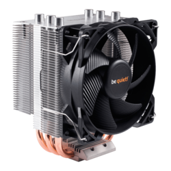 Pure Rock Slim, Socket 1151/AM4/AM3+/FM2+, 124.8mm Height, 120W TDP, Copper/Aluminum, Retail CPU Cooler