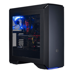 MasterCase Series Pro 6 Blue LED w/ Window, No PSU, ATX, Black, Mid Tower Case