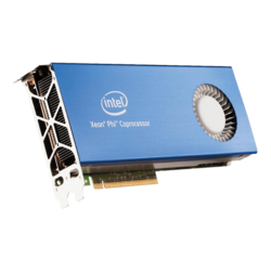 Xeon Phi™ 7220A, 68-Core 1.2 - 1.4GHz Turbo, 34 MB L2 Cache, 16GB Memory 500 GB/s, Active Cooling, PCI Express 3.0 Coprocessor