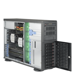 Workstation PC - Supermicro® SuperWorkstation 7048A-T Dual Xeon® E5 SATA 4U Rack/Tower Workstation